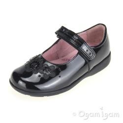 Start-rite Fleur Girls Black Patent School Shoe
