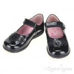 Start-rite Fleur Girls Black Patent School Shoe