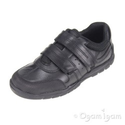 Start-rite Quarry Boys Black School Shoe