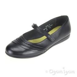 Start-rite Dawn Girls Black Reptile School Shoe
