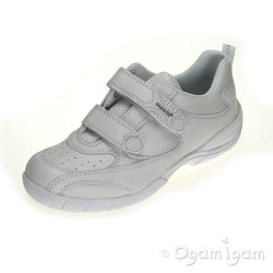 Superfit 0822650 Girls or Boys White School Trainer