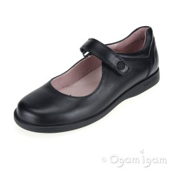 Garvalin 121110 Girls Black School Shoe