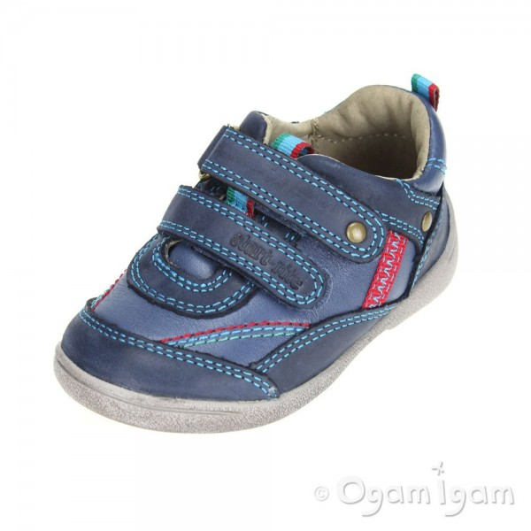 Start-rite Super Soft Leo Boys Navy Shoe