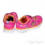 Skechers Synergy Lovespun Girls Neon Pink/Multi Trainer