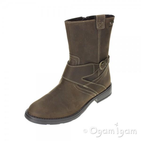 Geox Sofia Chestnut Girls Brown Boot