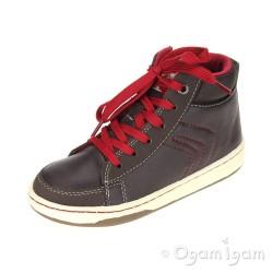 Geox Mania Boys Coffee/Red Boot