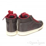 Geox Mania Boys Coffee/Red Boot