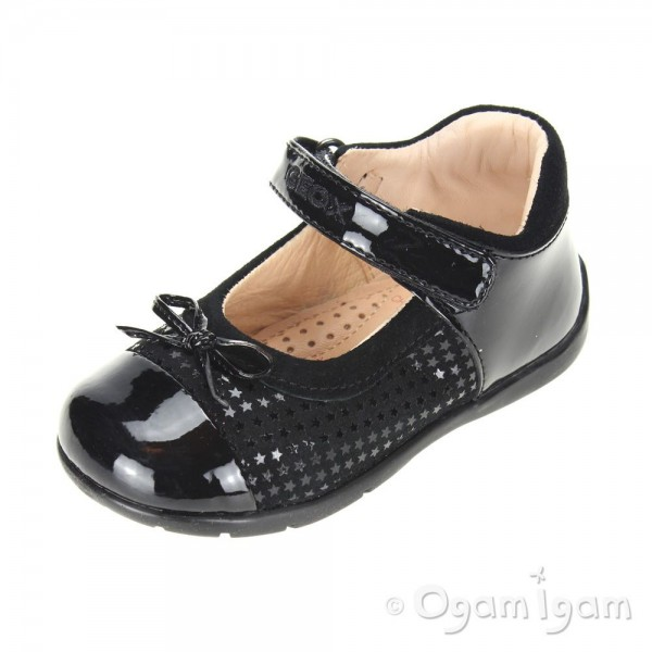 Geox Kaytan Black Girls Black Shoe