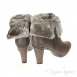 Geox Inspirat Womens Taupe Faux Fur Ankle Boot