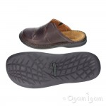 Josef Seibel Max 08 Mens Wine Brown Shoe