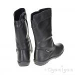 Primigi Celestina Girls Black Leather Waterproof Boot
