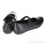 Geox Bon Bon Girls Black School Shoe