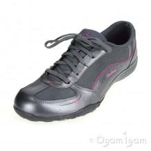Skechers Breathe Easy Take Ten Womens Gun Grey Trainer