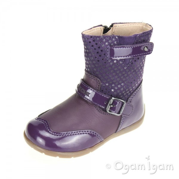 Geox Kaytan Infant Girls Dark Purple Boot