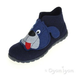 Superfit 0029580 Boys Blue Dog Slipper