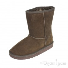 Dude Alpe Expresso Womens Suede Faux Fur Lined Slouch Boot