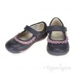 Clarks SoftlyStef Fst Girls Anthracite Grey Shoe