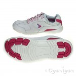 Clarks Free Race Girls White Trainer