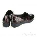 Clarks Gael Angora Womens Brown Croc Shoe