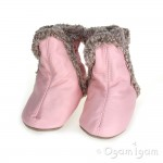 Robeez Classic Baby Girls Pastel Pink Bootee