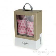 Clarks Baby Sleep Girls Baby Pink Shoe