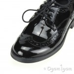 Geox Agata Girls Black Patent School Shoe