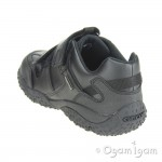 Geox Baltic Boys Black Waterproof School Shoe