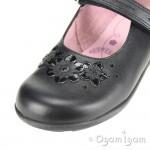Start-rite Fleur Girls Black School Shoe