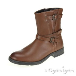 Geox Sofia Girls Rust Brown Boot
