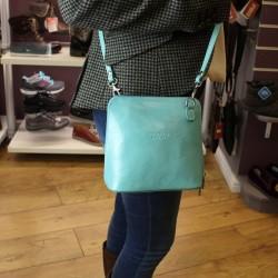 Vera Pelle Womens Light Blue Cross Body Leather Bag