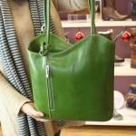 Vere Pelle Womens Green Cross Strap Leather Bag