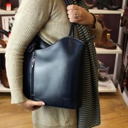 Vera Pelle Cross Strap Womens Navy Shoulder Bag