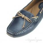 Clarks Dunbar Groove Womens Navy Shoe