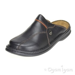 Josef Seibel Klaus Mens Black Mule Shoe