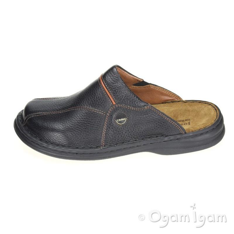 josef seibel klaus mens black mule shoe ogam igam