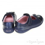 Start-rite Super soft Bow Girls Navy Shoe