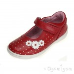 Start-rite Super soft Daisy Girls Red Shoe
