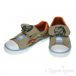 Start-rite Rex Roar! Boys Stone Canvas Shoe