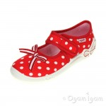 Superfit 0028871 Girls Fire Red Canvas Shoe