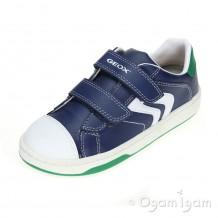 Geox Mania Boy Boys Navy/Green Shoe