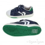 Geox Mania Boy Boys Navy/Green Shoe
