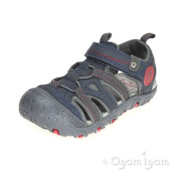 Garvalin 142810 Navy Boys Azul Open Shoe