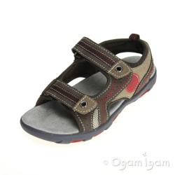 Garvalin 142811 Brown Boys Mocca Brown Sandal
