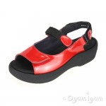 Wolky Jewel Womens Red Patent Sandal