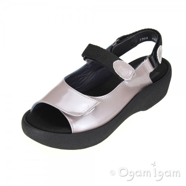 Wolky Jewel Womens Grey Patent Sandal