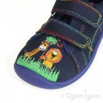 Start-rite Jungle Boys Navy Canvas Shoe