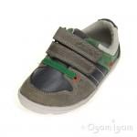 Clarks Maxi Myle Fst Boys Grey Combi Shoe