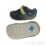 Clarks Tiny Ben Infant Boys Denim Blue Shoe