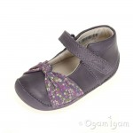 Clarks Little Nia Infant Girls Heather Purple Shoe