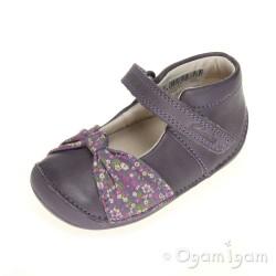 Clarks Little Nia Infant Girls Heather Purple Shoe